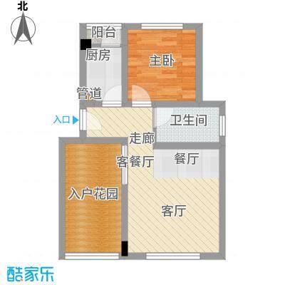 仙女山1号国际休闲度假区42.26㎡一期8号楼标准层A户型