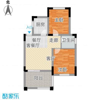 仙女山1号国际休闲度假区57.06㎡一期8号楼标准层D户型