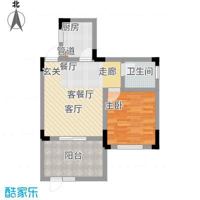 仙女山1号国际休闲度假区46.00㎡一期6号楼标准层D户型