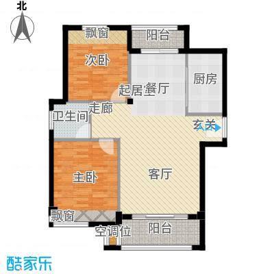 袁河壹品89.43㎡F户型