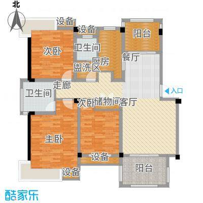 香山听泉123.17㎡D5'b户型