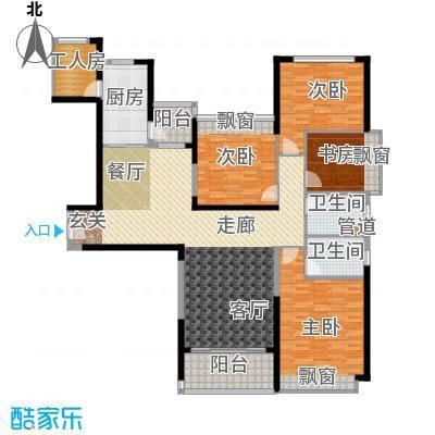 新余恒大雅苑158.98㎡5号楼1单元1号4室户型