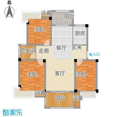香山听泉107.10㎡D3户型