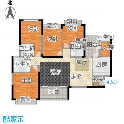 新余恒大雅苑158.42㎡4号楼1单元3号4号楼2单元4号4室户型
