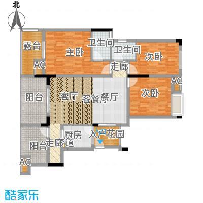 金科开州财富中心121.04㎡一期1号楼标准层B-02户型