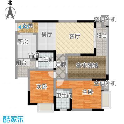 润丰水尚观景台高层组团89.00㎡二期15号楼标准层3号房/16号楼标准层4号房户型
