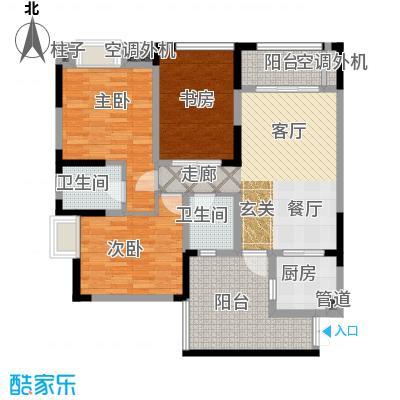 润丰水尚观景台高层组团87.00㎡二期35号楼标准层C7户型