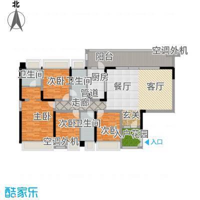 中航公元140.66㎡2期12#B2户型