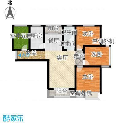 冠景凯旋门123.63㎡冠景・凯旋门C2户型
