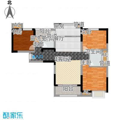 中海国际社区115.00㎡东郡B区7#8#9#10#楼B户型