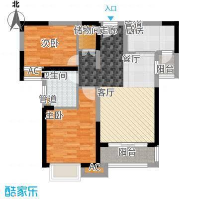 中海国际社区85.00㎡东郡B区7#8#9#10#楼A户型