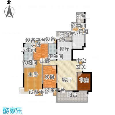 恒基誉珑岛215.00㎡高层A1户型