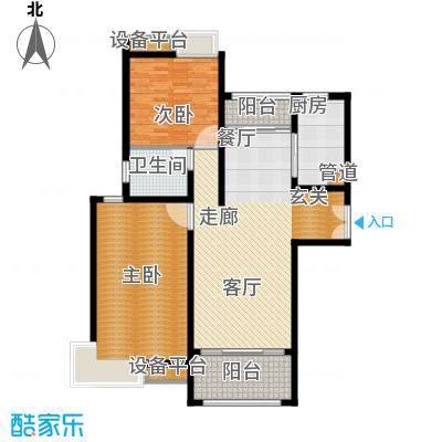 建滔裕花园114.88㎡一期三号楼、五号楼B3户型