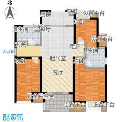 万科城115.00㎡A5区1#3#10#14#楼中间户U-5户型