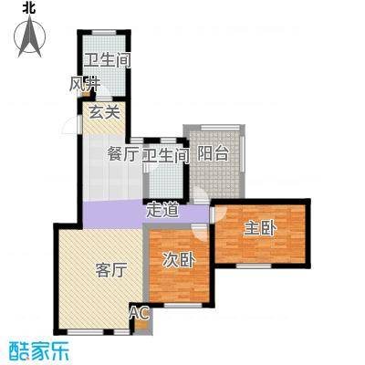 金地艺境89.00㎡七层洋房14号楼Q户型