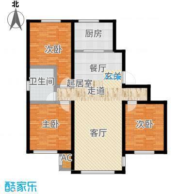 中海御湖熙谷114.00㎡8号楼、A11号楼C2户型
