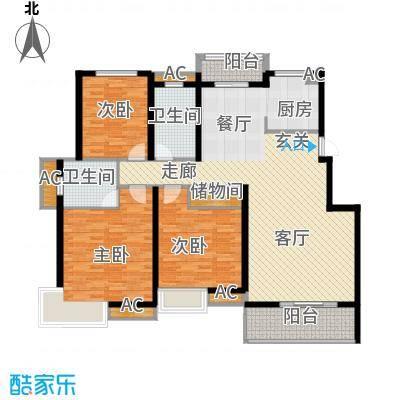 润城东方128.00㎡B3户型