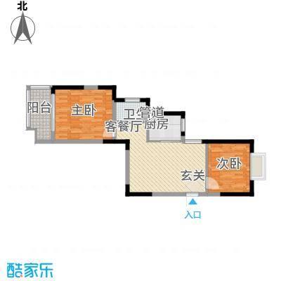 众兴华庭77.00㎡3#5#楼A-06户型
