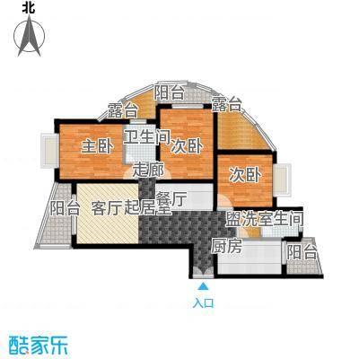 福园名邸95.78㎡I-4号楼-B户型