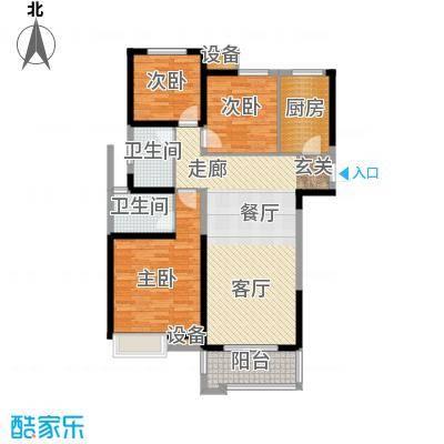 中海世纪公馆108.00㎡一期11号楼标准层C户型