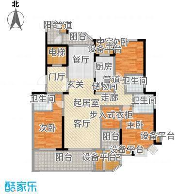 绿地新都会172.00㎡11#东单元12#西单元C3室户型