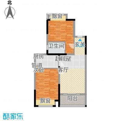 优山美地名邸87.61㎡27#、29#楼A3户型