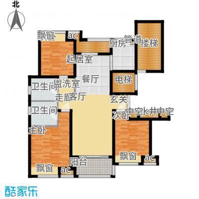优山美地名邸144.45㎡25#楼E户型