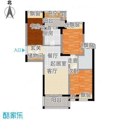 优山美地名邸112.00㎡1#楼A-4b户型