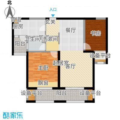 景瑞望府95.00㎡华公馆1号户型