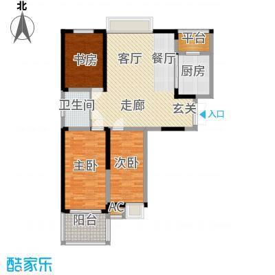 英祥承德公馆99.00㎡2期11#楼西单元东西边套3室户型