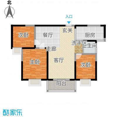 英祥承德公馆112.00㎡二期1号楼C2户型