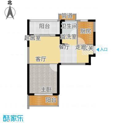 恒大名都二期22#楼一单元一居室2室户型