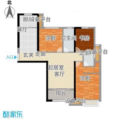 融侨华府140.00㎡一期12、13#楼朝南标准层C4户型