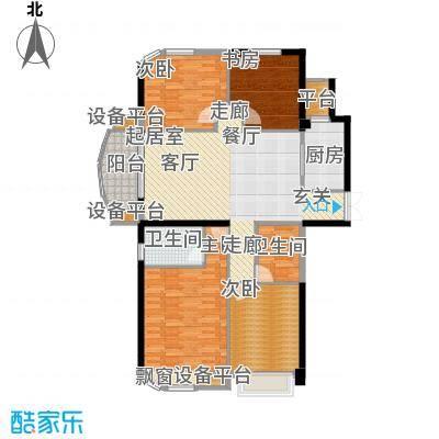 融侨华府143.00㎡一期12、13#楼朝南标准层C5户型