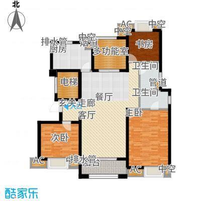 中海凤凰熙岸136.00㎡6号楼标准层C5户型