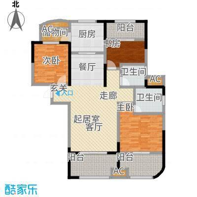 昆山颐景园119.00㎡一期高层D1户型