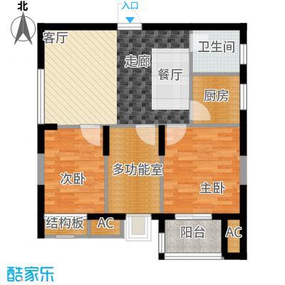 华典佳苑79.13㎡1户型