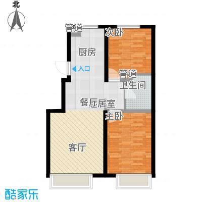 江山印象91.25㎡一期小高2号楼1-11层B户型