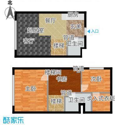 森晟江湾馨城60.00㎡9号楼标准层小复式A户型