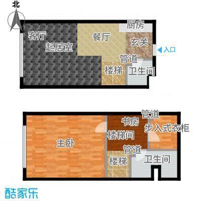 森晟江湾馨城70.00㎡9号楼标准层小复式C户型