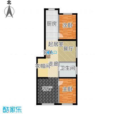 森晟江湾馨城116.27㎡5号楼标准层户型