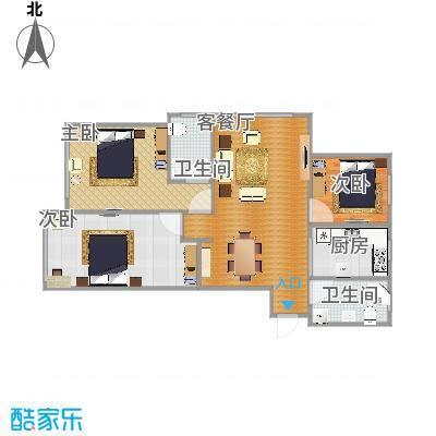 山水园114平三室两厅两卫