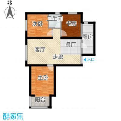 万晟御水湾105.00㎡A4#楼C户型
