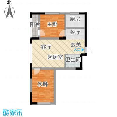 青旅福润家园77.69㎡2#、3#楼05户型