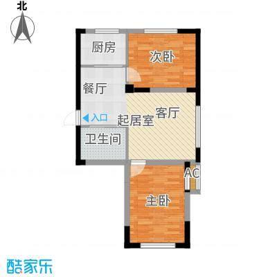 青旅福润家园82.73㎡1#楼01户型