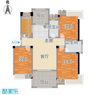 香山听泉121.26㎡D5b户型