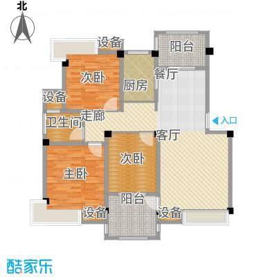 香山听泉107.60㎡D3'户型