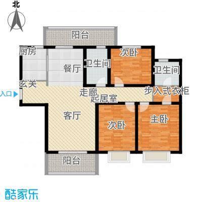 华润中海凯旋门139.00㎡高层F面积13900m户型