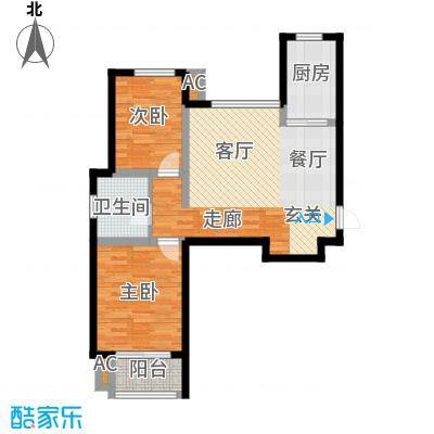 金桥澎湖山庄22号楼G10户型