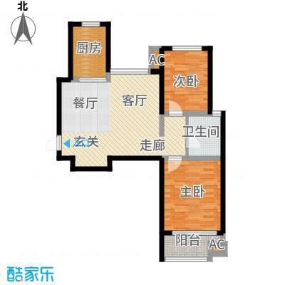 金桥澎湖山庄22号楼G10'户型
